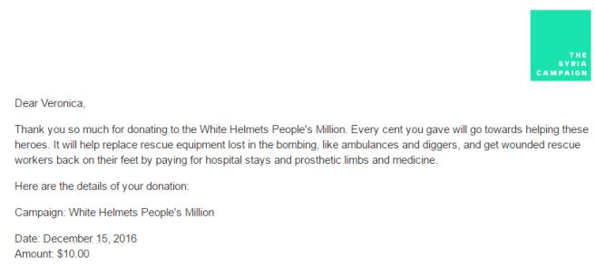 White Helmets Donation